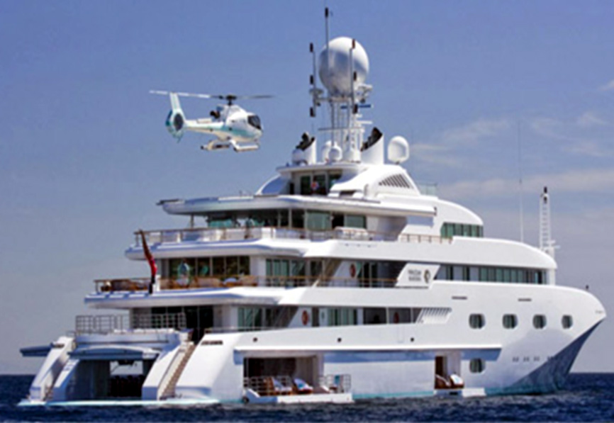 Helicopter Yacht